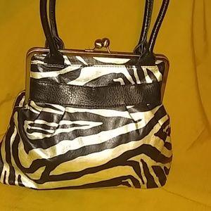 BUENO Zebra Purse